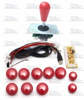 Arcade Parts Bundles Kit With Joystick Pushbutton Microswitch Player Button 1066 In 1 Game PCB To