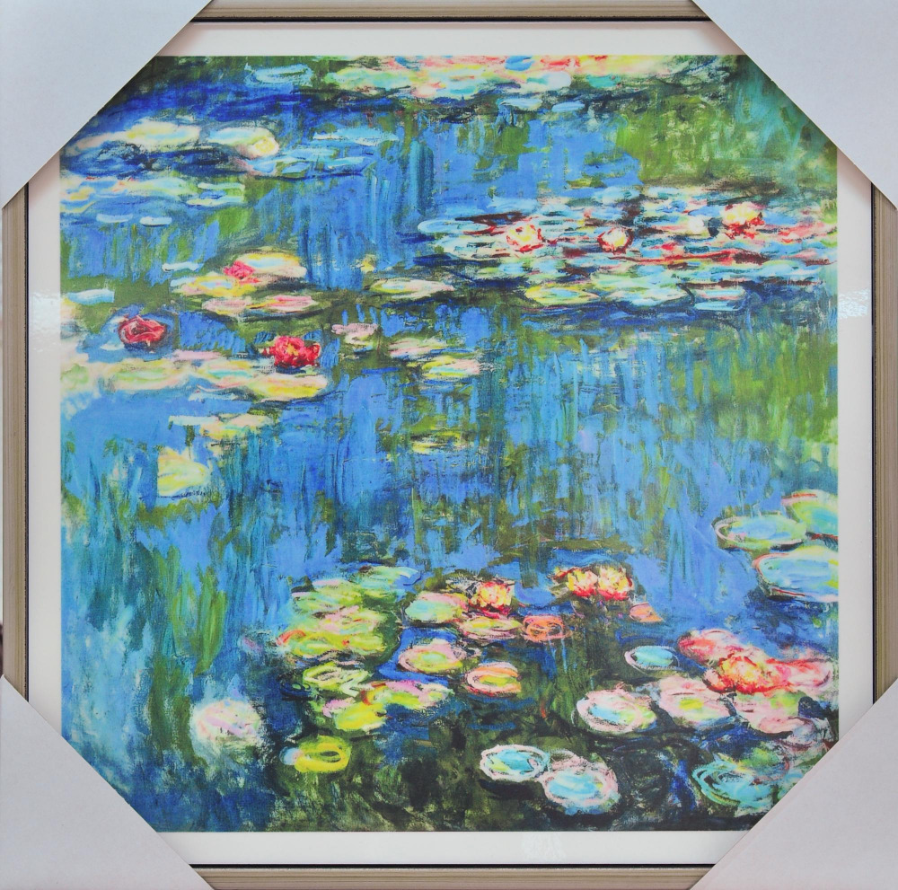 Pool Tile Lotus Flower Painting Ceramic Tile Art Mural For Swmming