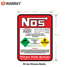 NEW NITROUS BOTTLE LABEL Sticker Decal 10#NOS REPLACEMENT 10 LB