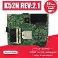 K52N Motherboard REV:2.1 For ASUS X52N K52N K52D laptop Motherboard K52N Mainboard K52N Motherboard test 100% ok
