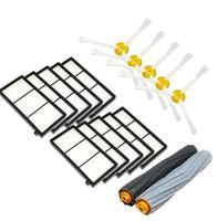 Tangle Free Debris Extractor Brush 10 Heap Filter 5 Side Brush Kit For IRobot Roomba 800