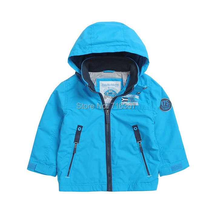 Free Shipping - kids/boys bright blue hooded jacket, boys winderproof / waterproof jacket, Size 92 to 128 free shipping 200pcs 2sd882p d882p to 92 d882 transistors