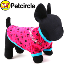 2015 Petcircle Hot Sale Cute Dog Fleece Clothes Wonderful Pet Dog shirt hoodiesClothing New Fashion Red Color Shirt Freeshipping