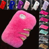 Rabbit Hair Case For Meizu U10 Winter Fluffy Bunny Villi Fur Furry Plush Bling Cover Coque