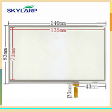 original New 6 inch touch panel 140*83mm 140mm*83mm For Portable GPS DVD navigation touch screen digitizer glass panel