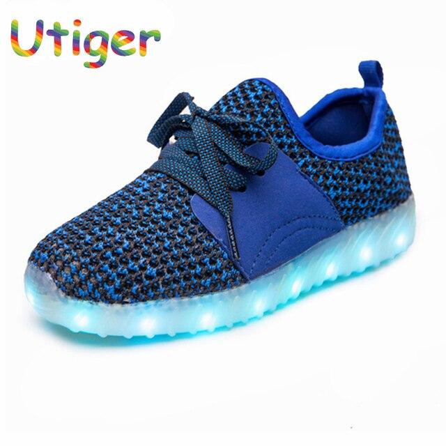 7c0e3bc0ca7 USB Opladen Kid schoenen Met Licht Kinderen Led Schoenen Meisjes Jongen  Groeiende Sneakers Kind Trainer Led