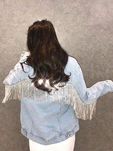 Image 5 - JUNAO 45 см/партия, блестящая металлическая лента для одежды