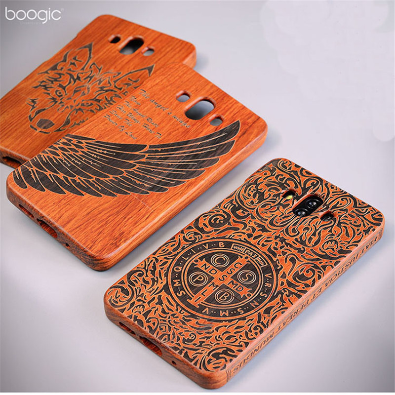 Wooden Cover For Huawei Mate 10 Case Full Protect Retro Wood Case For Huawei Mate10 Carved Pattern Coque 5.9 Funda