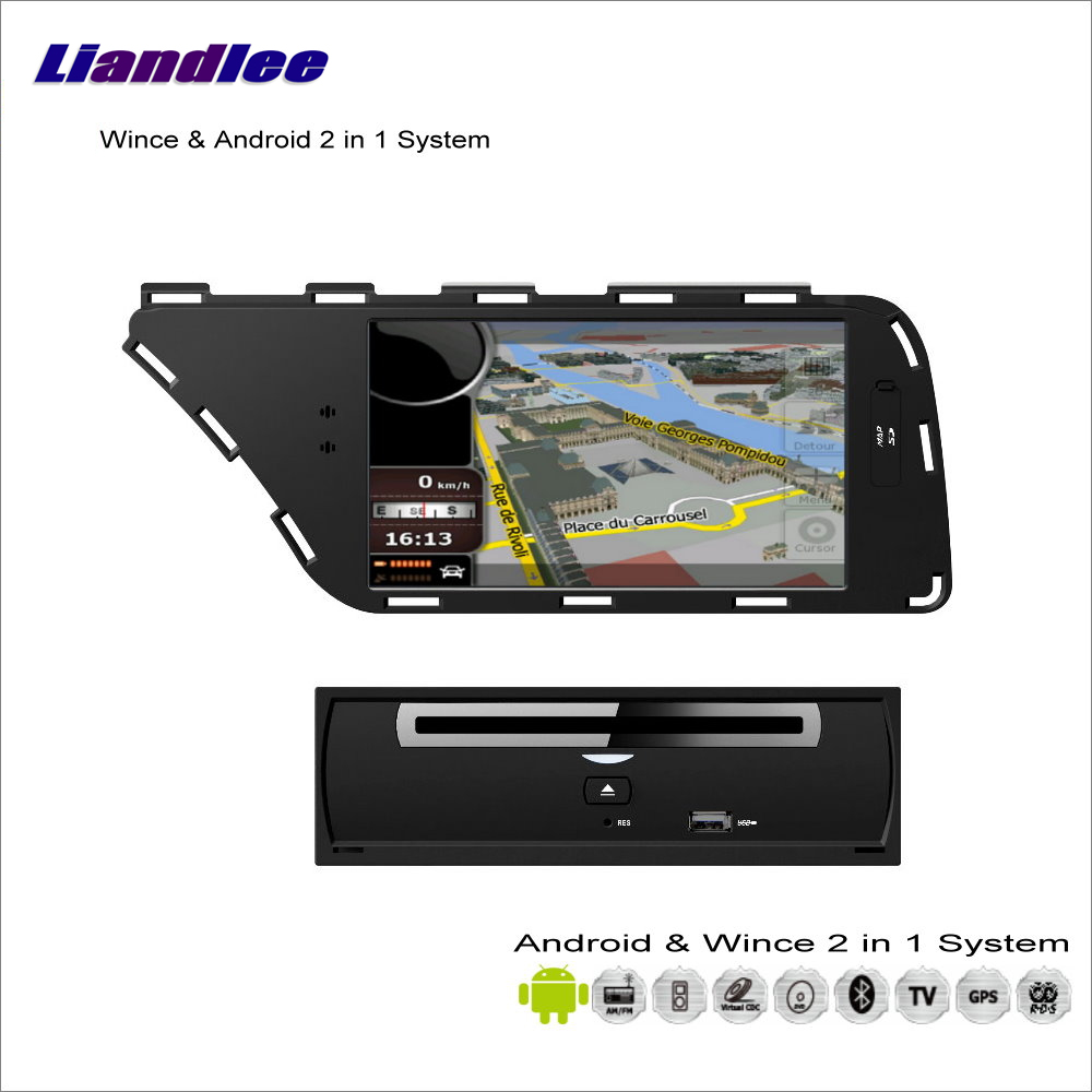 Liandlee For Audi A4 / A5 2008~2013 Car Radio BT CD DVD Player GPS NAV NAVI Navigation Audio Video Stereo Advanced S100 System недорго, оригинальная цена