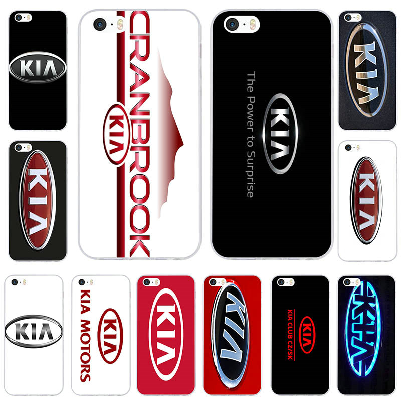 Korean Car Brands >> Us 1 99 Fashion Kia Logo Korean Car Brands Soft Silicone Mobile Phone Cases Cover For Iphone 6 6s 7 8 Plus 5s Se 5c 4 4s X Coque Bags In