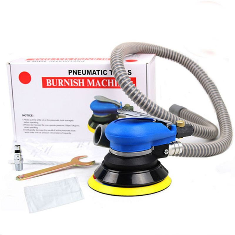 цена на 5 Inch Sander & Car polisher Random Orbital Air For Palm Vacuum Cleaner Set Tool 5inch