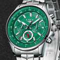 LIGE мужские часы Топ бренд Роскошные Кварцевые часы мужские водонепроницаемые спортивные часы модные повседневные военные часы мужские ...