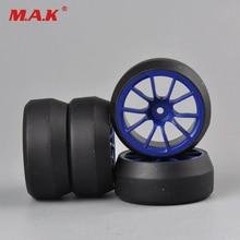 4pcs/set 12mm Hex RC car 0 degree drift tires tyre wheel rim fit for HSP 1:10 RC on-road car 3mm offset C12B+D2 parts accessory