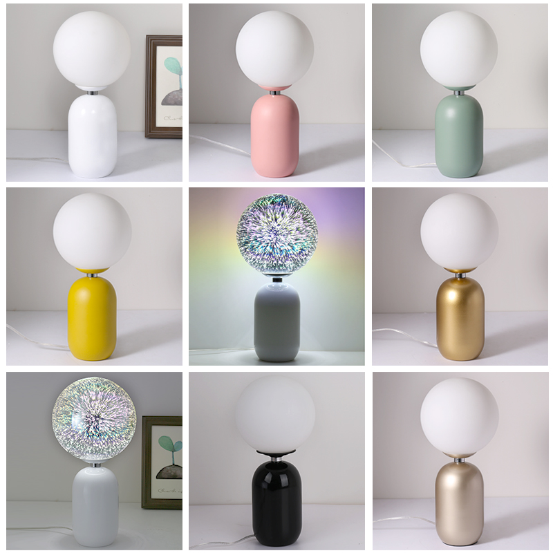 Здесь можно купить  Modern painted colorful creative desk Lamps E27 LED 220V include LED table Lamp for Reading bedside home bedroom study hotel bar  Свет и освещение