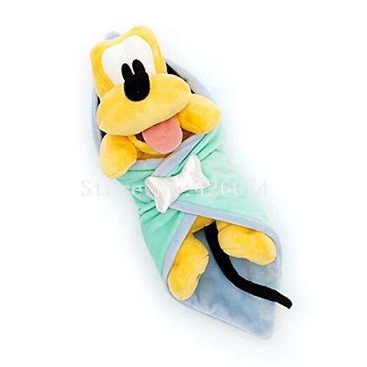 New Babies Pluto Dog In A Blanket Plush 25cm Kids Stuffed Animal