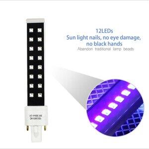 Image 2 - Lâmpada para unhas uv led 16 leds 9w lâmpadas da lâmpada do prego para a cura substituída secador da arte do prego lâmpadas tubo de substituição
