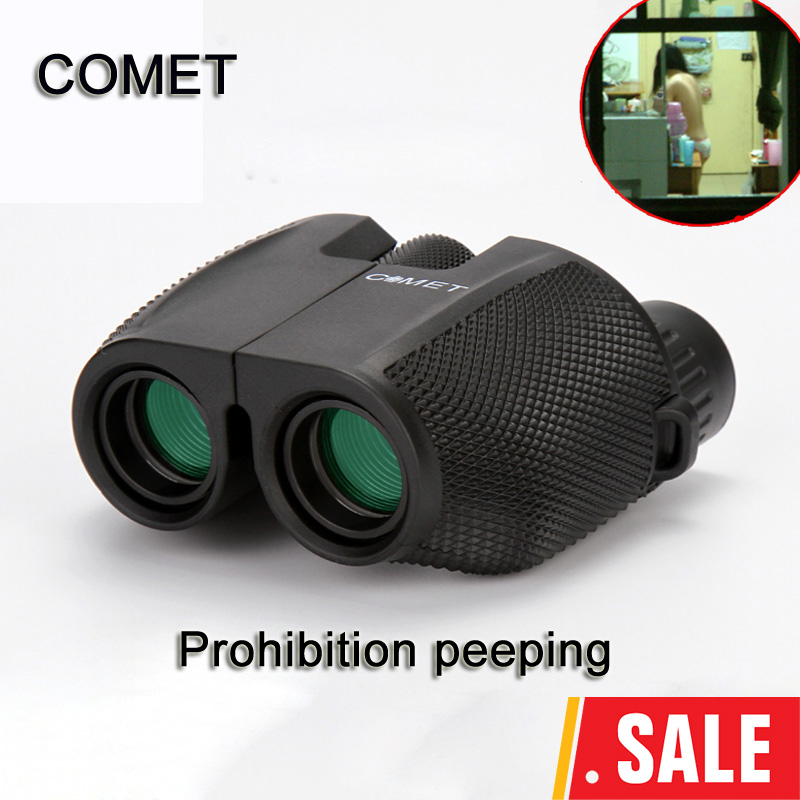 High Power HD 10X25 BAK4 Prism green film waterproof binoculars telescope for travel hunting Hot selling