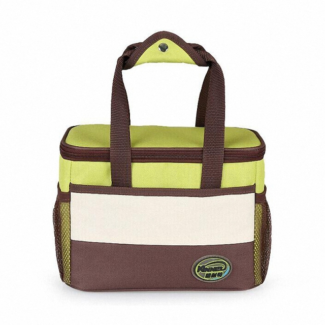 NOVA nylon Impermeável Container Cooler Térmica Almoço Duplas Lunch Box Carry Bag boodiness almoço saco Do Piquenique Tote Bolsa LI-1156