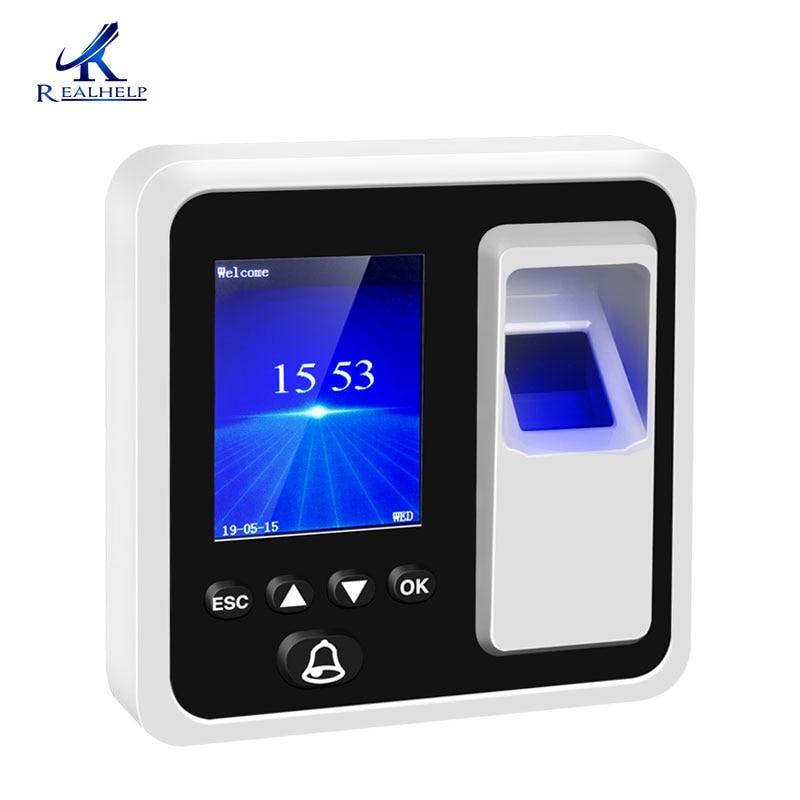 Sistema de atendimento de Tempo Realhelp 3000 Usuários Baseados Em IP Escritório Compacto e Leitor de RFID sistema de atendimento biométrico de Impressões Digitais