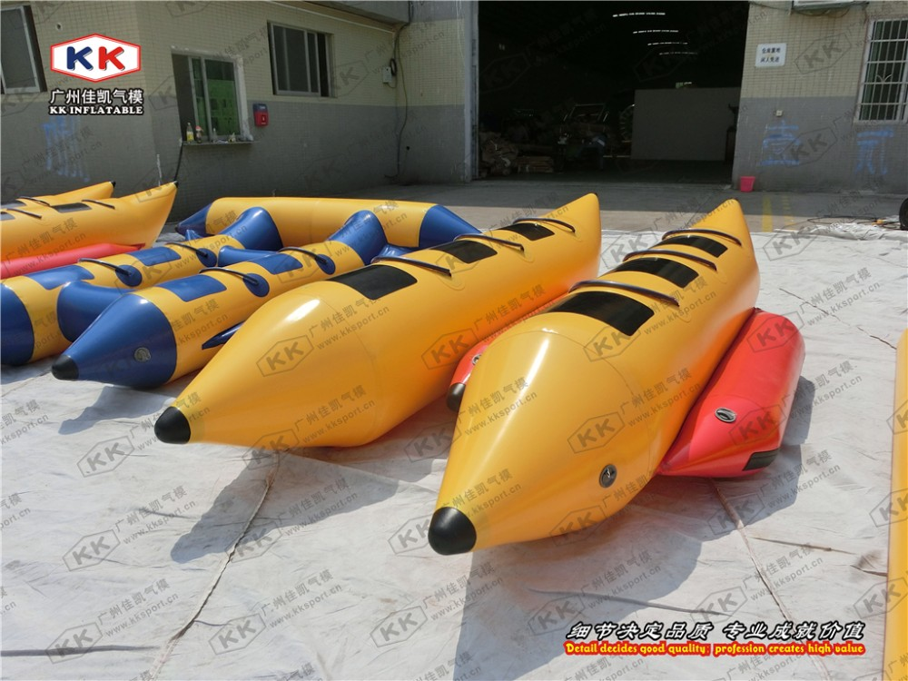 0.9mm PVC Inflatable Banana Boat Double Tube Water Towed Ski ...