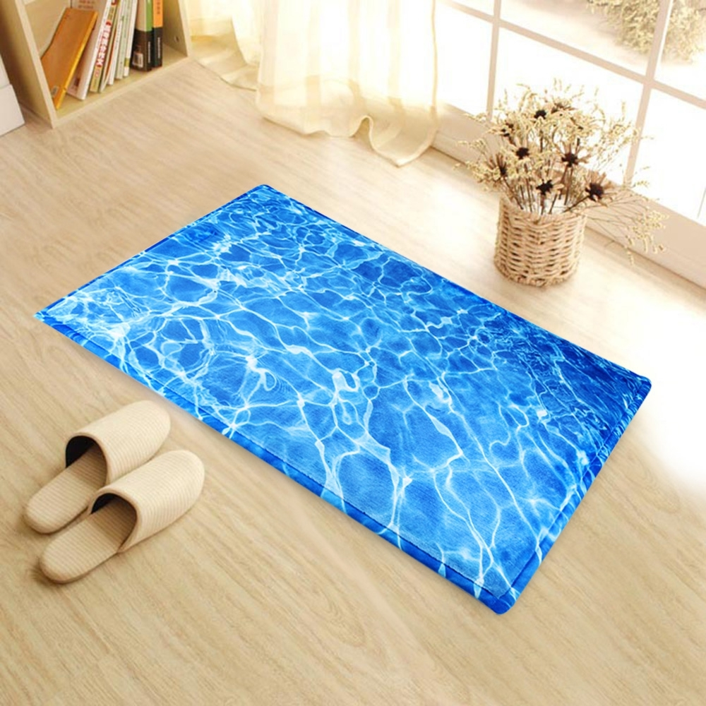 3D Printed Bathroom Memory Foam Rug Kit Non-slip Bath Mats Floor Carpet Ped Pad Large Size Door Floor Seat Mattress For Decor