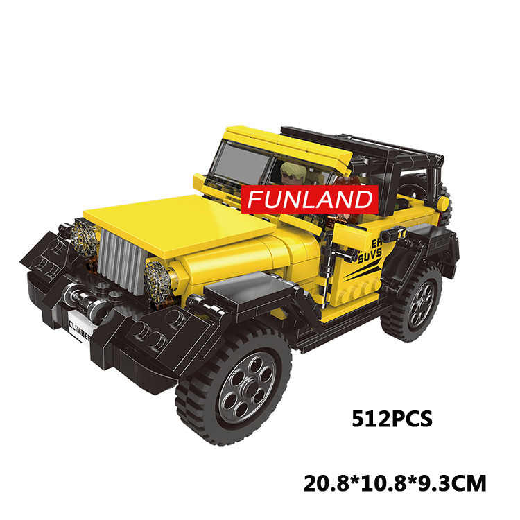 Technics Chrysler jeep Wrangler moc building block dream car assemable model driver figures bricks toys collection for boy gifts