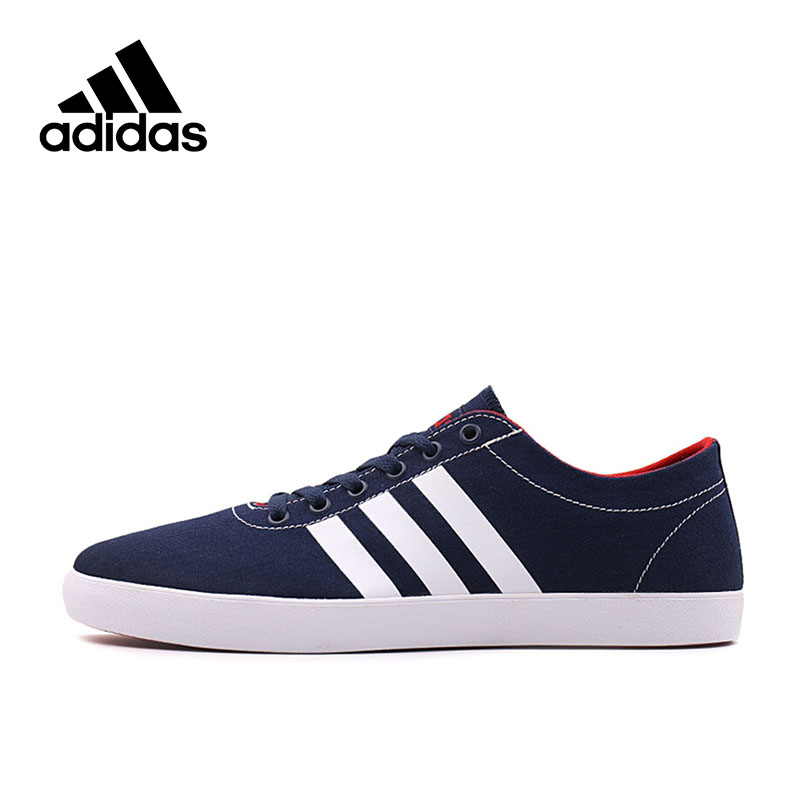 Official New Adidas NEO Label EASY VULC Men's Skateboarding Shoes Comfortable Classic Cotton Fabric Low-top Men Sneakers official new arrival adidas neo label baseline men s leather low top skateboarding shoes sneakers classic shoes