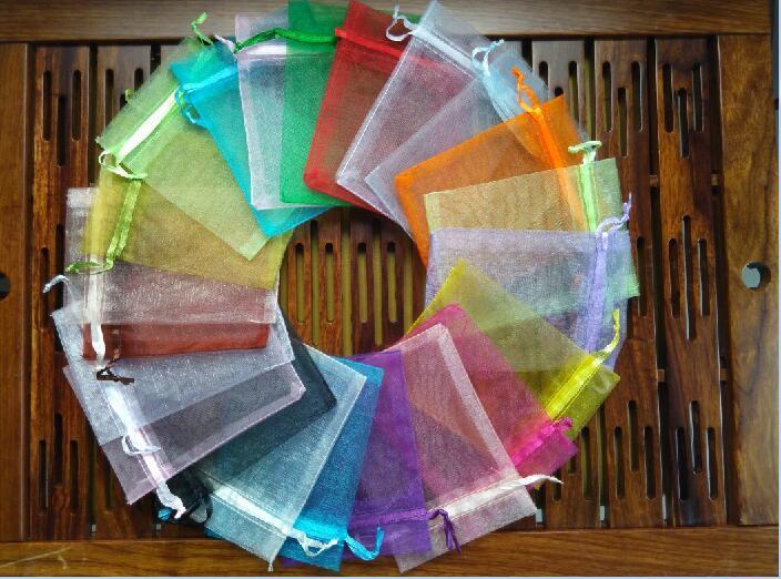 300 шт/партия 24 цвета большая сумочка для украшений из органзы 20x30 см сумка на шнурке Свадебные/вечерние украшения Подарочный мешочек для украшений упаковочная сумка