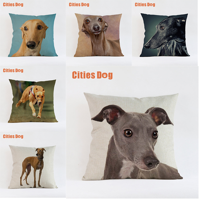 Greyhound dog pillow covers decorative cushion covers for sofa Pillows Animal Gorey Hound dogs pillowcase cushions cover decor