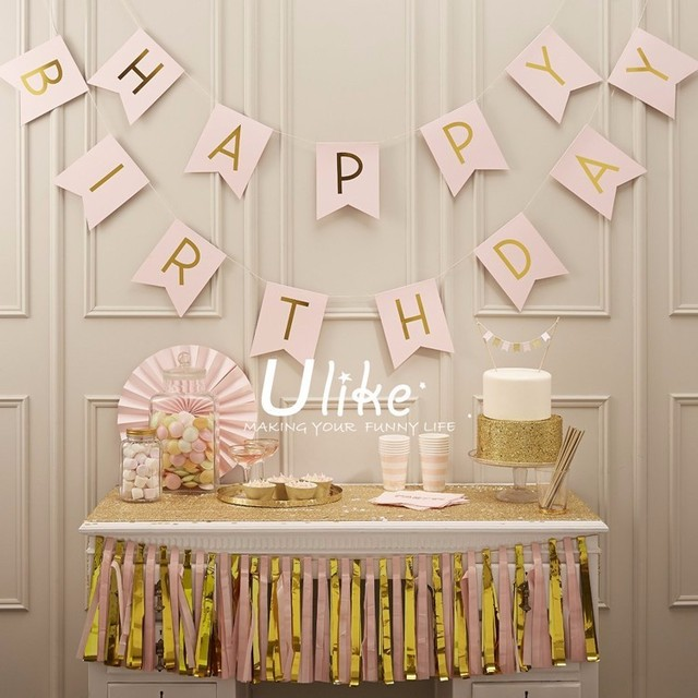 13pcs/lot Birthday party supplies happy birthday letter bunting banner garland baby shower decoration event party supplies