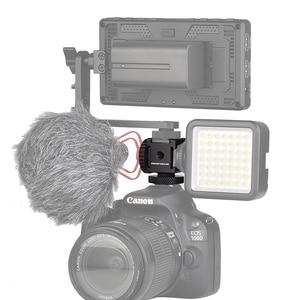 Image 5 - Adattatore cardanico triplo per montaggio su slitta fredda per luci, monitor a LED, microfoni, registratore Audio e videocamera con staffa Flash da Studio