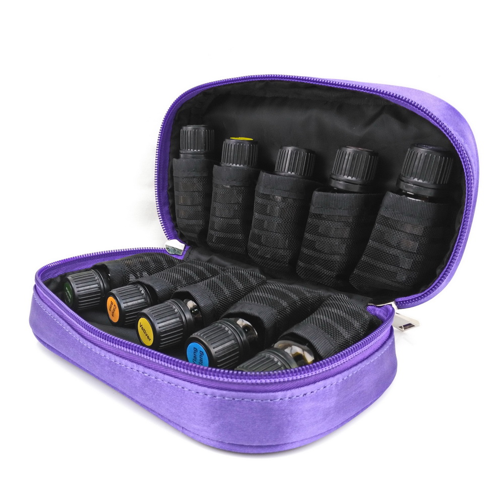 Travel Portable Double Zipper Essential Oil Carrying Case Holds 10 Bottles 5 - 15ml doTERRA Young Living cosmetic bag organizer