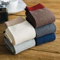 Bendu New Men'S Bamboo Socks Spring Summer Crew Socks Fashion Casual Breathable Dropshipping 5 Pairs