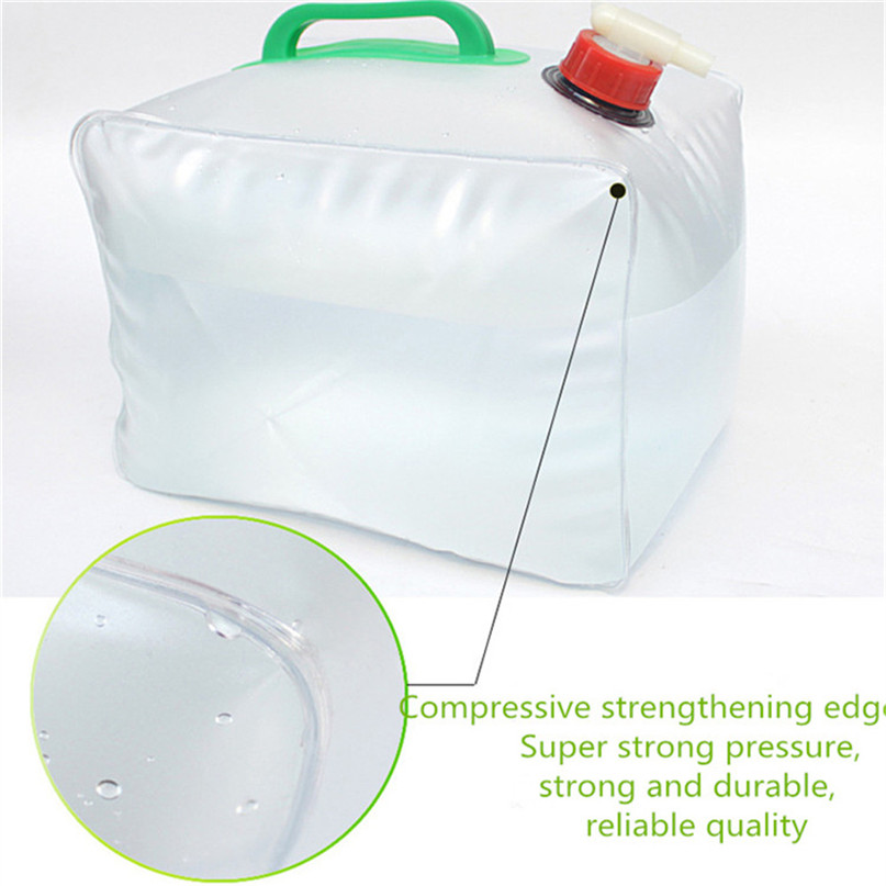Portable water storage container Collapsible Water Carrier Bag Emergency Water Bag for Camping survival #2y15 (5)