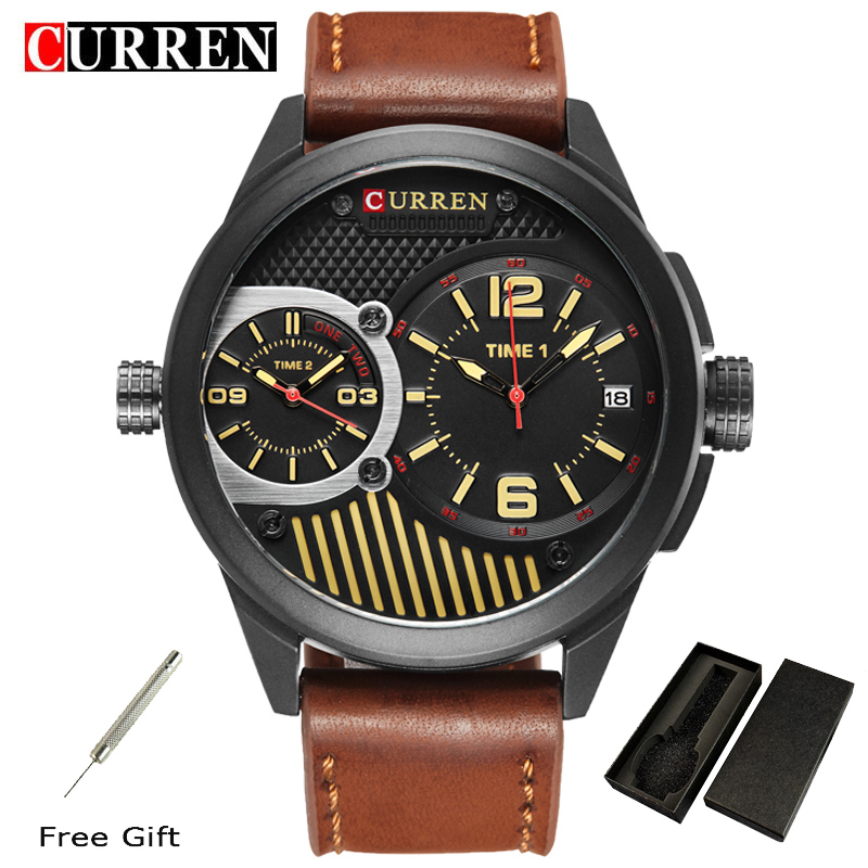 Curren Luxury Brand Mens Sports Watches Dive Water Resistant Watch Men Fashion Casual Electronics Wristwatches Hot Clock 8249