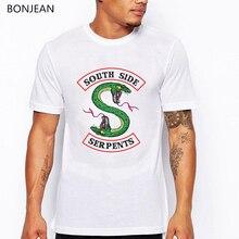 Summer 2019 Riverdale Southside Serpents T Shirt Men Harajuku Anime Snake T-shirt Homme Camisetas Hombre Tops Streetwear