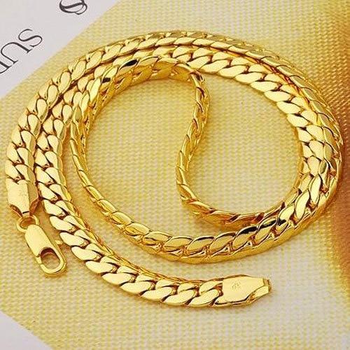 """23,6 """"8 mm široké žluté zlato GF Pánské náhrdelník GF Snake Chain Šperky Spokojeni, 7 dní žádný důvod k vrácení"""