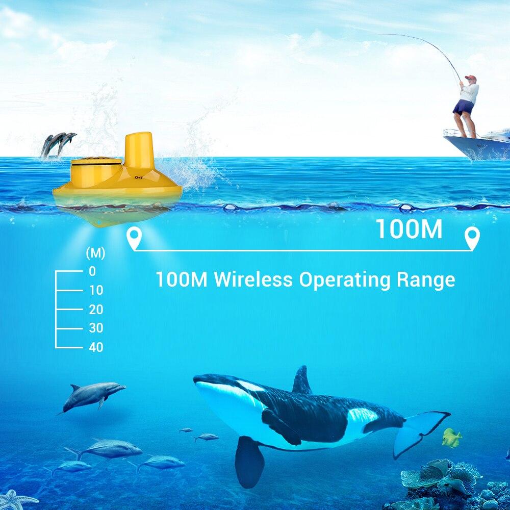 Menu russe!!! Lucky FFW718 détecteur de poisson Portable sans fil 40 M/120FT Sonar profondeur sondeur alarme océan rivière lac - 4