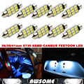10x Super Bright Festoon CANBUS ERROR FREE Xenon White 36MM C5W 5730 5630 9SMD LED Dome Interior Courtesy Licence Plate Light
