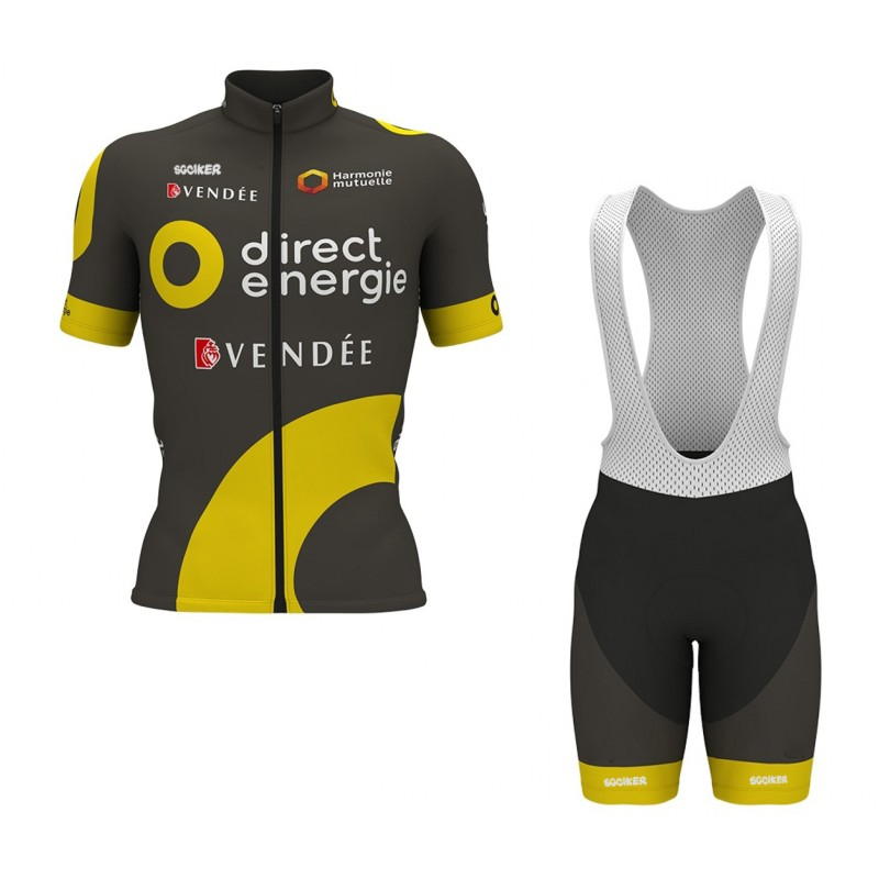 pro team Direct Energie bike racing team cycling jerseys kit summer breathable racing cloth MTB Ropa Ciclismo Bicycle maillot 2017 pro team orica cycling jerseys bicycle maillot breathable mtb short sleeve ropa ciclismo quick dry bike cloth 3d gel