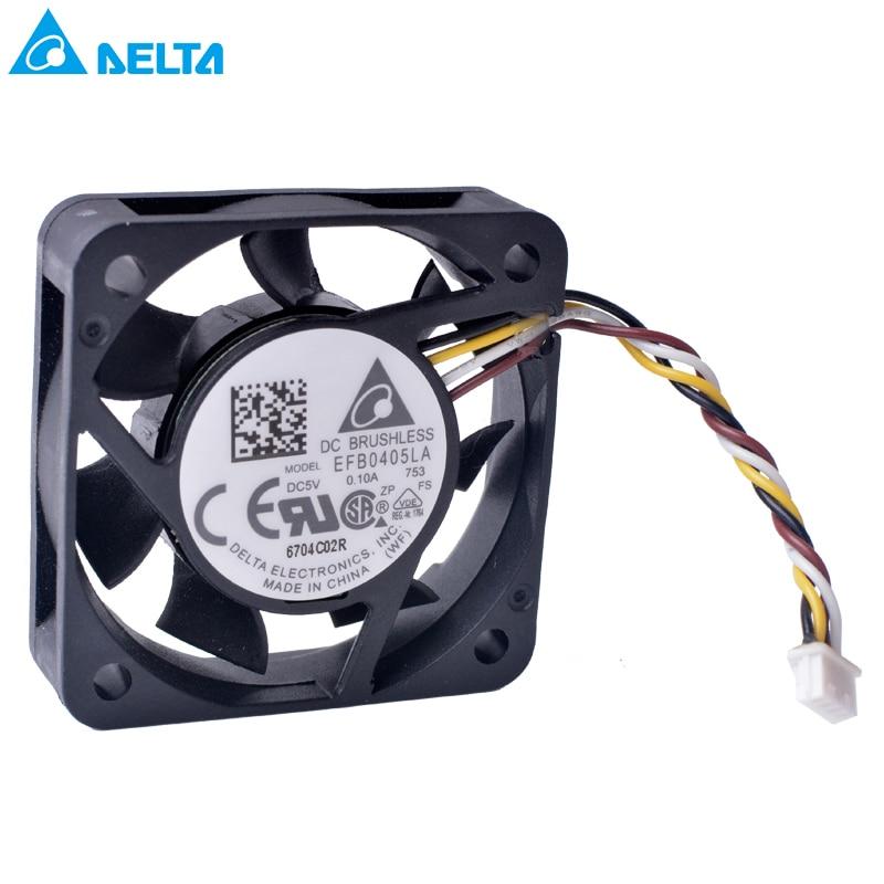 Free shipping New DELTA EFB0405LA 40x40x10mm 4010 5V 0.10A 4CM fan silent ball fanFree shipping New DELTA EFB0405LA 40x40x10mm 4010 5V 0.10A 4CM fan silent ball fan