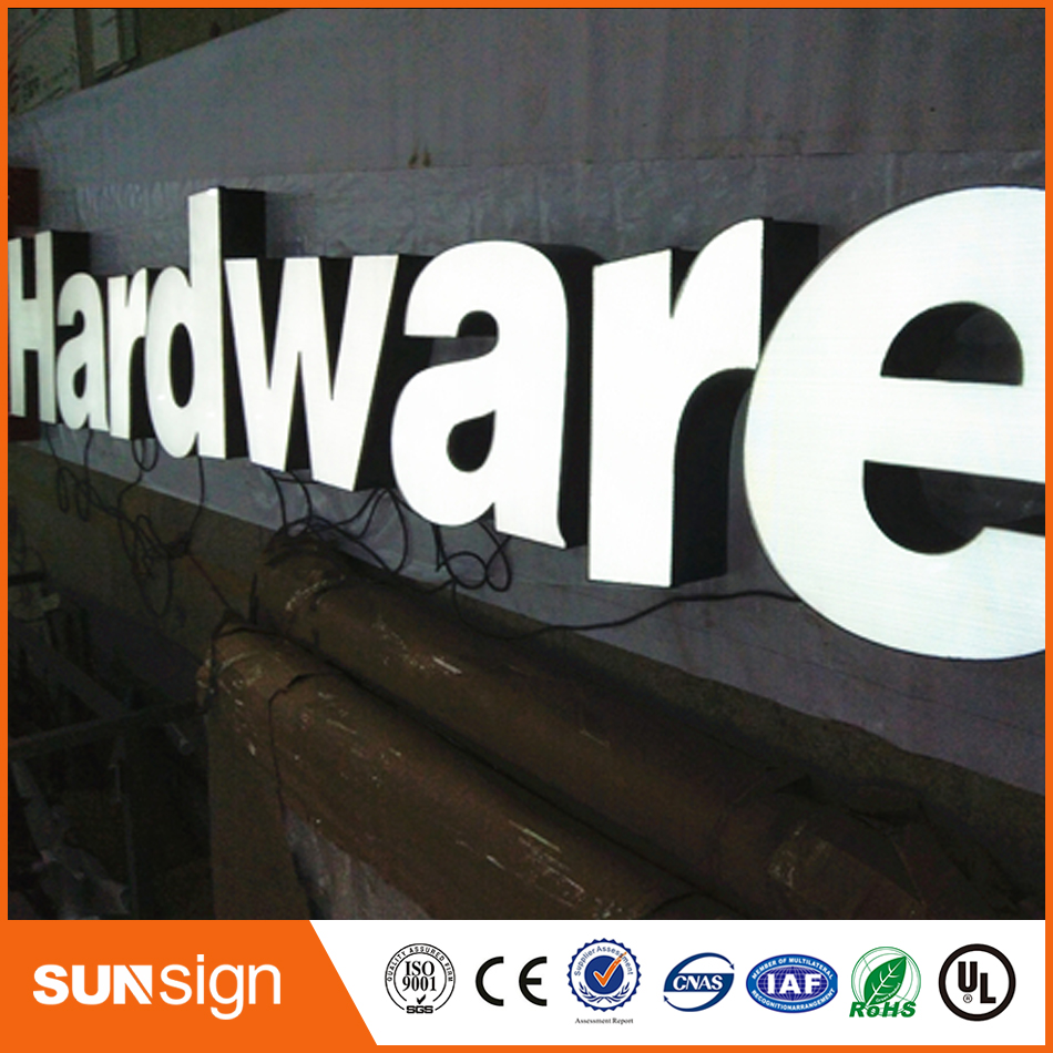 China Professional Manufacture Frontlit Led Advertising Signage