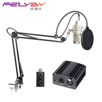 BM 800 Condenser Recording Microphone With Shockproof Device For Radio Broadcast Recording High Quality Sound Recording