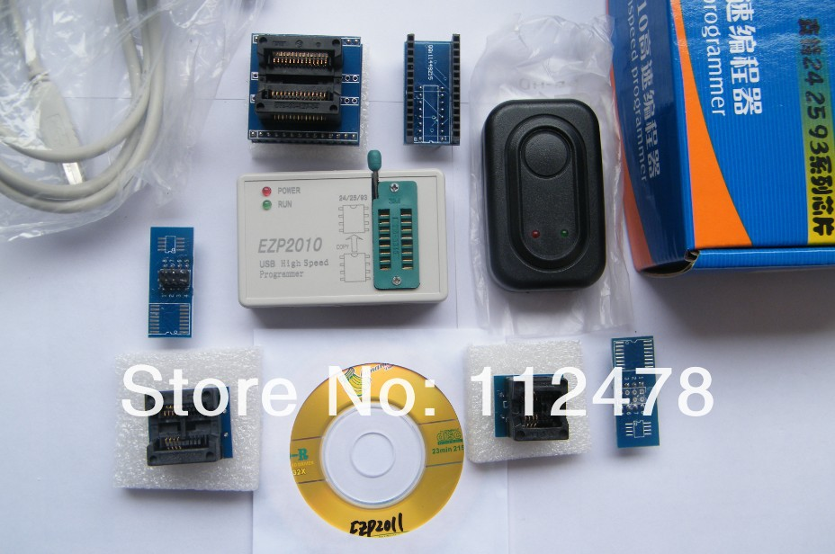 24 25 93 シリーズ USB ハイスピードプログラマ 2010 版 2010 + 5 アダプタ + Soic8 クランププログラマ 25T80 bios USB 、 SPI プログラマー -