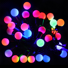 7m Christmas lights outdoor LED string lights ball Garland holiday new year party wedding decoration lamps lighting strings