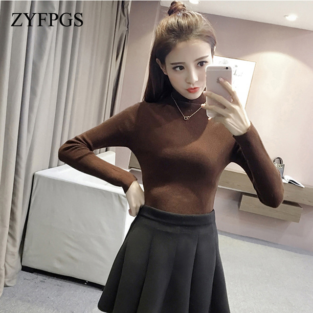 d97521141 ZYFPGS 2018 Autumn Pullover Keep Warm Elasticity Sweater For Women ...