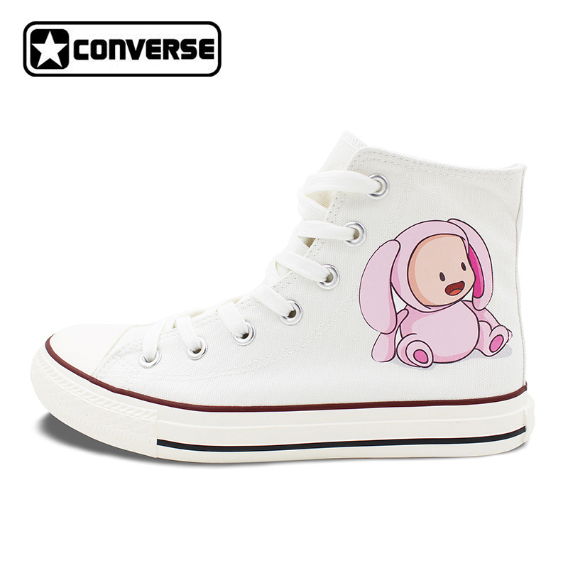 White Converse All Star Design Babies with Lovely Animal Costumes Flats Lace Up High Top Canvas Shoes Personalized Gifts видеорегистратор mio mivue 518