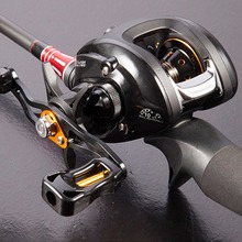 купить 12+1BB Baitcasting Reel G-ratio 6.3:1 Left or Right Hand Boat Bait Casting Fishing Reels With Magnet Brake Pesca Hot дешево