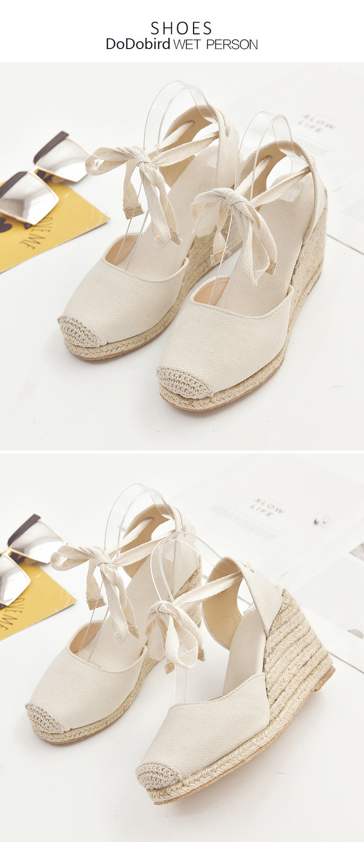 HTB1QTYQaiHrK1Rjy0Flq6AsaFXa6 Women's Espadrille Ankle Strap Sandals Comfortable Slippers Ladies Womens Casual Shoes Breathable Flax Hemp Canvas Pumps