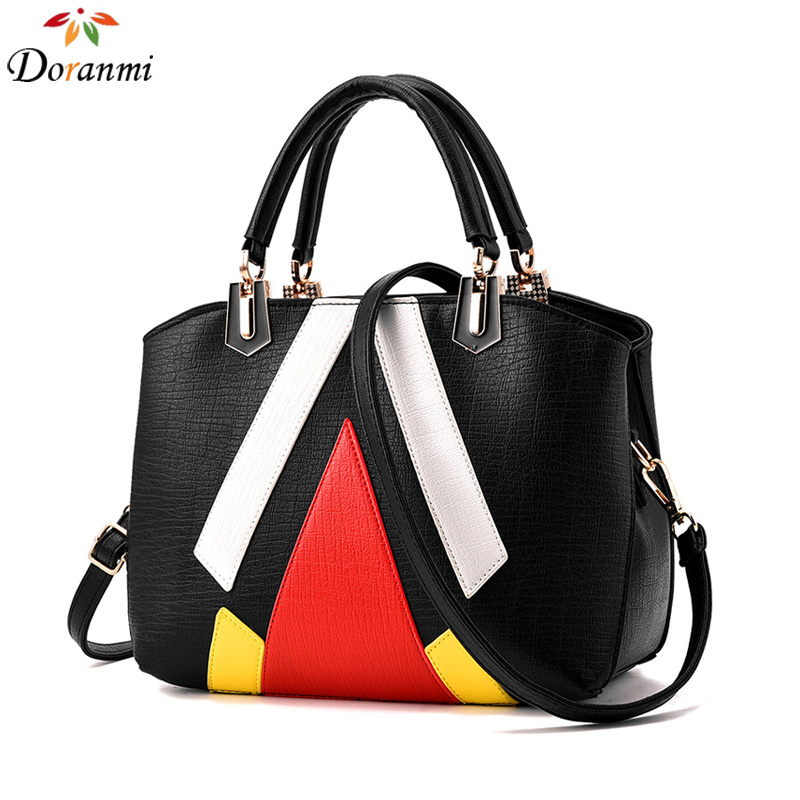 DORANMI Fashion Geometric Handbags Women 2017 New Shaped Tote Handbags PU Leather Luxury Female Bag Casual